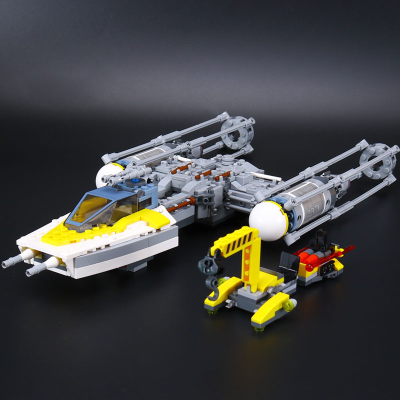 Lepin 05065 New 691Pcs Genuine Star War Series The Y-wing Starfighter Set Building Blocks Bricks Educational Toys DIY Gift 75172 black pearl building blocks kaizi ky87010 pirates of the caribbean ship self locking bricks assembling toys 1184pcs set gift