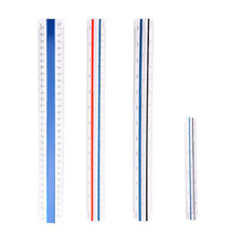 Triangular scale ruler scale ruler multi-function triangle school ruler design ratio triangle ruler measuring tool 30cm abs floding multi function measuring ruler