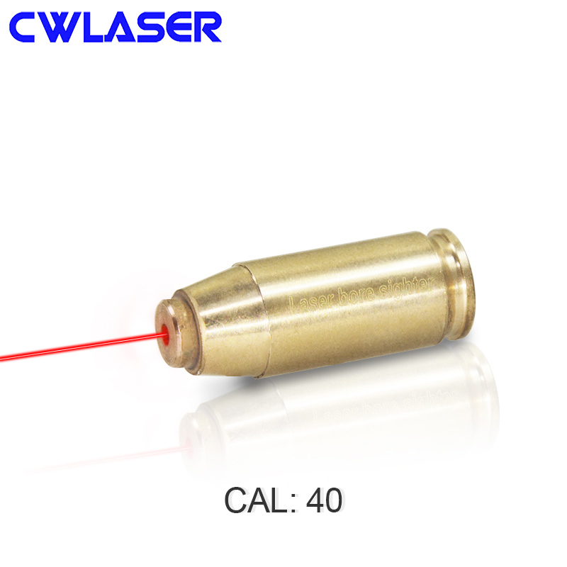 CWLASER 40 Cartridge 5mW Red Laser Bore Sighter Dot Beam Laser Sight (Copper)