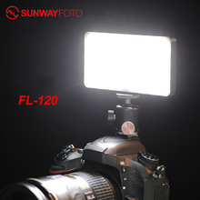 SUNWAYFOTO FL 120 LED על מצלמה אור תאורת צילום סטודיו למלא אור עבור DSLR מצלמה Selfie אור עבור Youtube חי