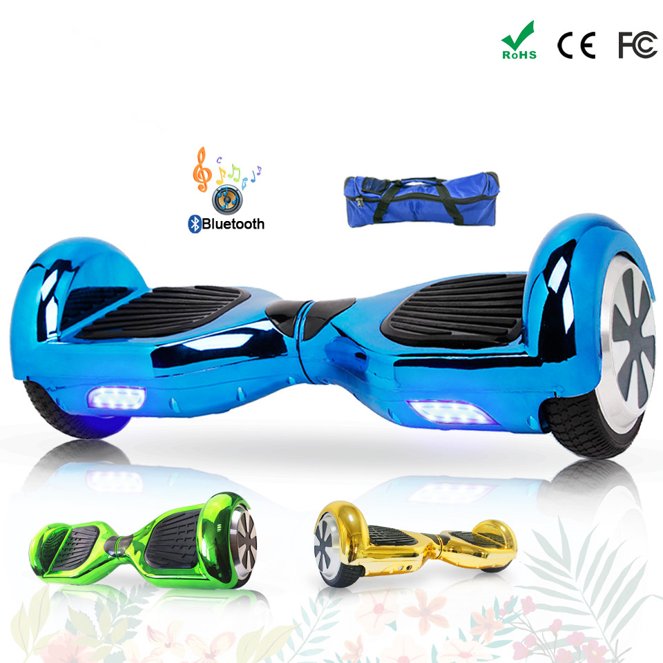 Chrome or bleu Hoverboards Balance Board Gyropode Oxboard Hoverboard planche à roulettes électrique Hoverboard Electrico Giroskuter