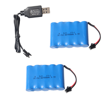 2PCS 700 mAH AA Rechargeable Battery RC Car Accessories For 1:16 2WD Remote Control Car LR-R004R /LR-R004B LR-R002Y/RL-R002B