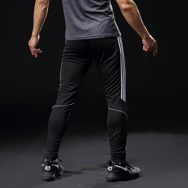 Sport Running Pants Men With Pockets Athletic Football Soccer Training Pants Elasticity Legging jogging Gym Trousers 319 5