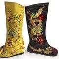 Zapatos de los hombres masculinos botas Príncipe chino túnicas Emperador dragón accesorios bordados patrón botas bottes chaussures