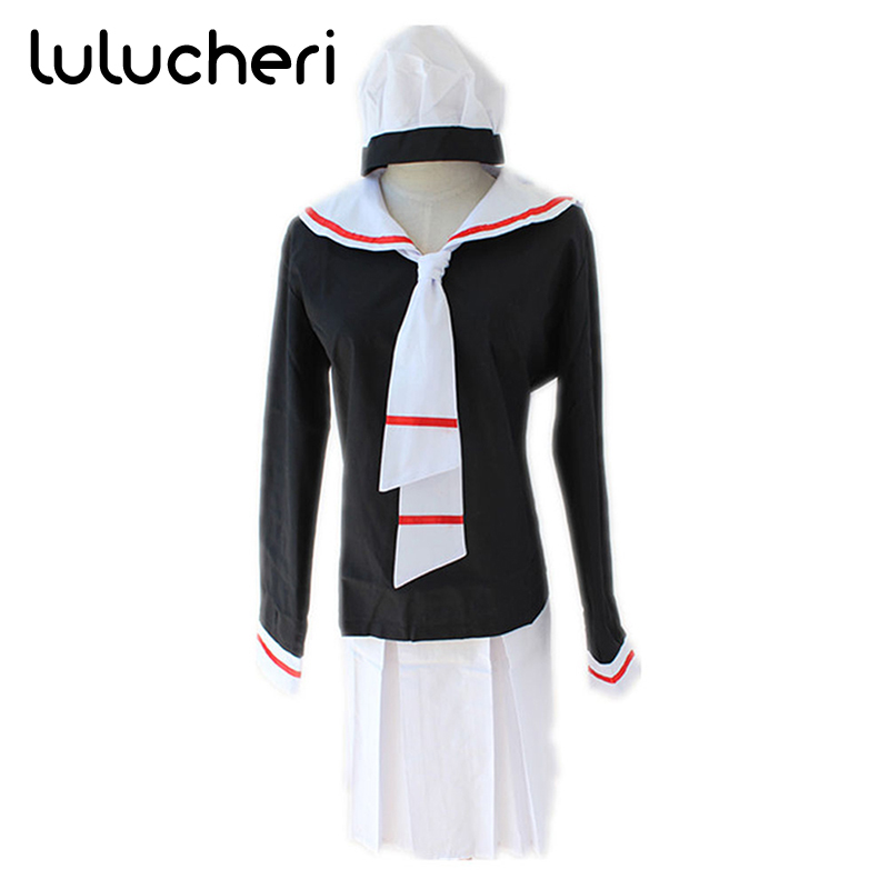Card Captor Sakura Cosplay Costumes Kinomoto Sakura Girls School Uniform Halloween Party Dresses Costume Outfit Suits