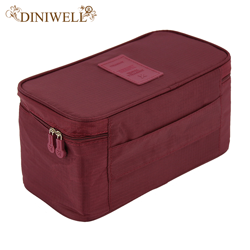DINIWELL Bra Underwear Storage Bag Travel Bag Trip Handbag Luggage  Traveling Bag Pouch Case Suitcase Space Saver Container Bags In Storage  Bags From Home ...