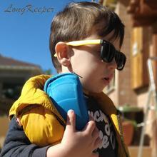 LongKeeper TR90 поляризованные детские солнцезащитные очки с чехол для Детей Силиконовый оберегают от солнца, солнцезащитные очки подарочный набор для детей для маленьких мальчиков и девочек Óculos