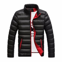 Men S Casual Parkas Solid Winter Jacket Men Stand Thin Warm Padded Overcoat Pockets Outwear Man