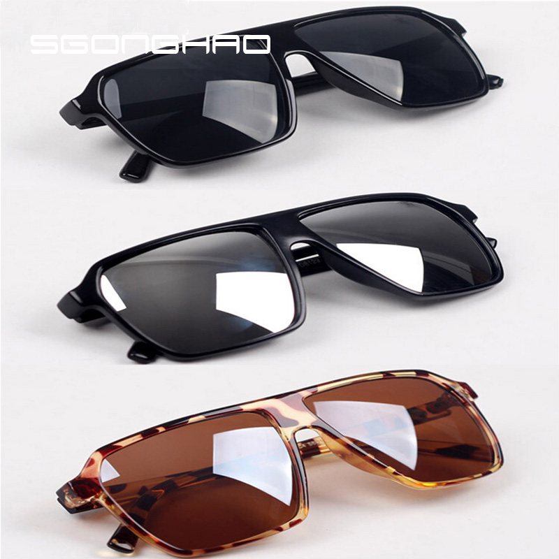 53359cad72bd Super Cool Big Square frame Flat top 2015 new fashion sunglasses women men  sun glasses