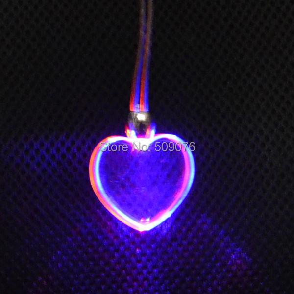 6pcslot led lanyard multicolor light up heart lanyard led flash party necklace pendants for - Light Up Christmas Decorations