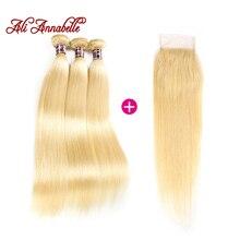 Ali Annabelle 613 Blonde Human Hair Straight Brazilian Hair