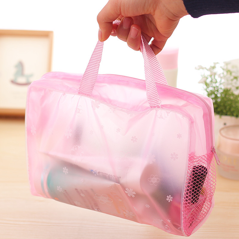 Bag Toiletry Storage-Bag Make-Up-Organizer Bathing Travel Transparent PVC Waterproof