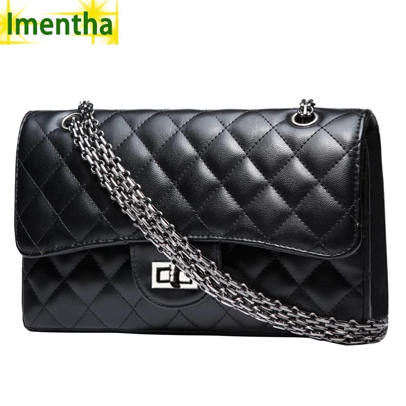 38e63fced720 Черный Для женщин Сумка 2016 бренд Модные женские роскошные Сумочка цепи  сумка ватные Для женщин сумка доллар цена