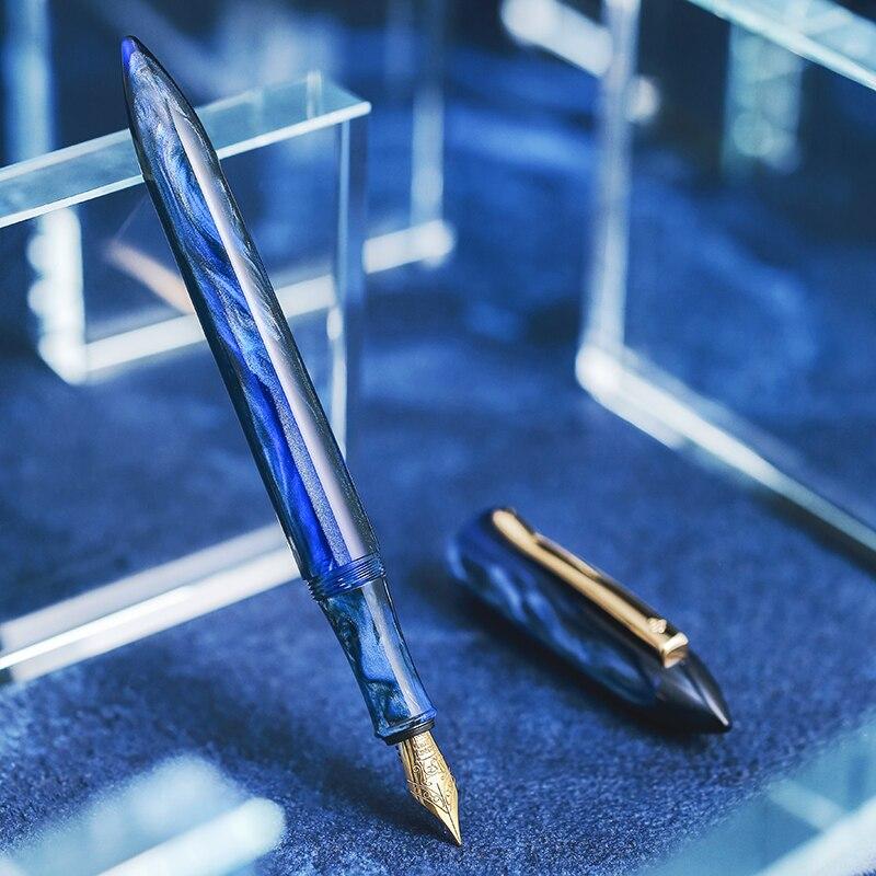 2019 nouveauté Design Original stylo plume en or acrylique EF ou F nib stylos à encre fournitures scolaires et de bureau boîte cadeau d'anniversaire