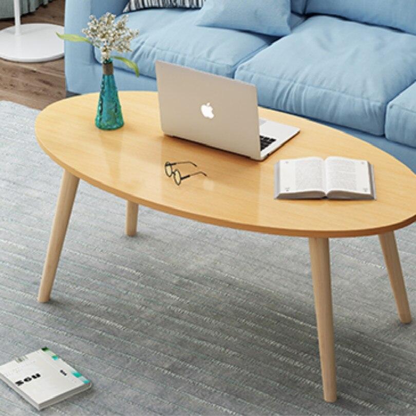 Table basse carrée ovale de 80*40CM pour la table de chevet de table basse latérale de salon - 2