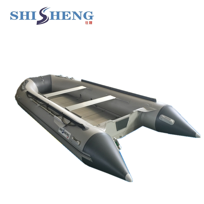 China Supplies High quality Aluminum Floor Inflatable Rubber Boats for Sale 2017 aluminum floor inflatable folding boat 300cm army green and black for sale