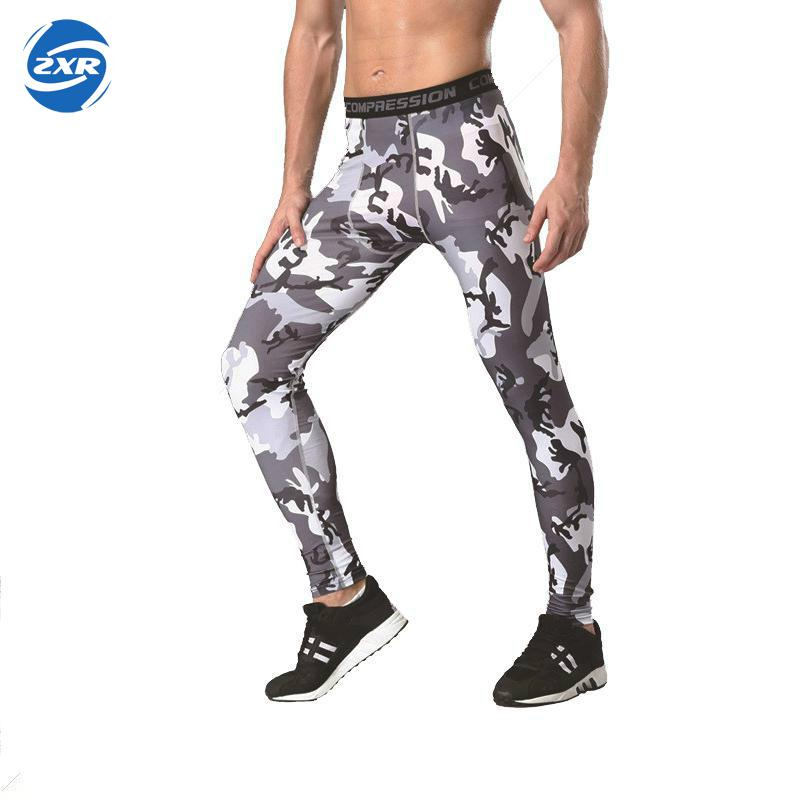 Mens Sports Quick Dry Running Long Pants Gym Compression Tights Fitness Trousers