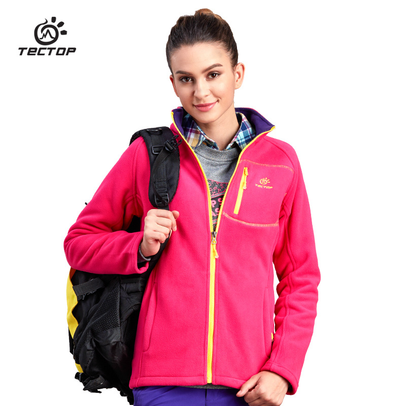 TECTOP Autumn Winter Outdoor Sport Thermal Polar Fleece Coats Women Hiking Camping