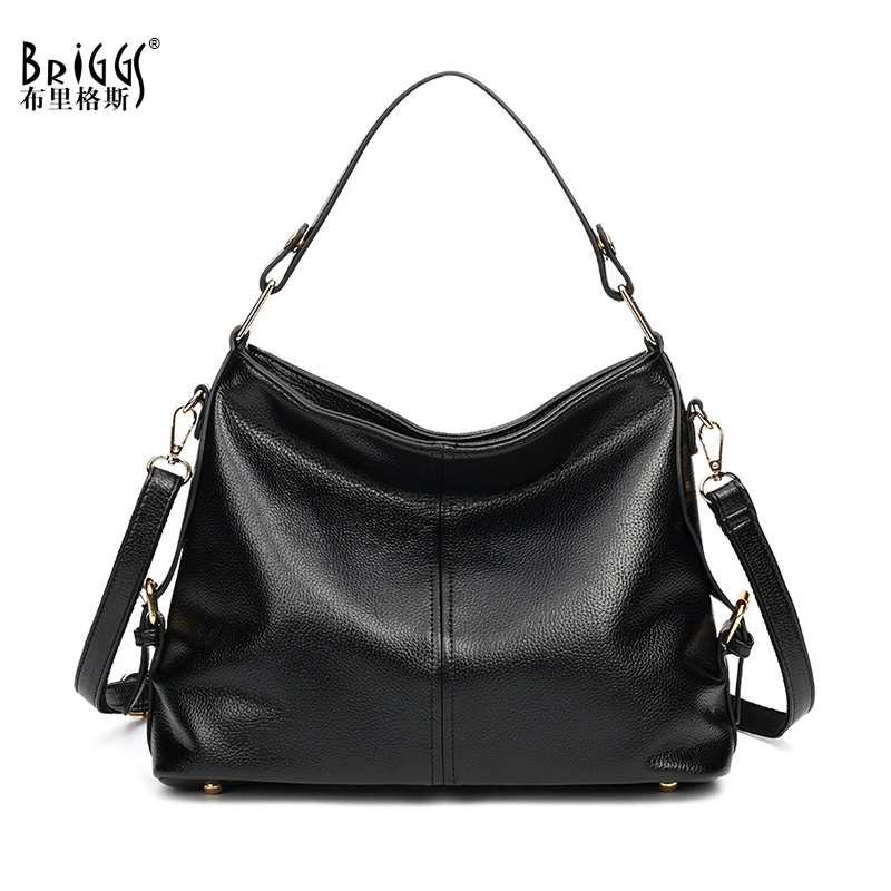 BRIGGS Brand Handbag Women Shoulder Bag Female Large Tote Bags Hobo Soft PU Leather Ladies Crossbody Messenger Bag bolsos mujer 2017 new design women crossbody shoulder bag fashion pu leather handbag clutch bag ladies tote purse hobo messenger bags bolsos