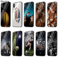 Gerleek de caso para iPhone 6 6 s 7 7 Plus X XR XS Max 5 5S cubierta de Rugby bola deporte
