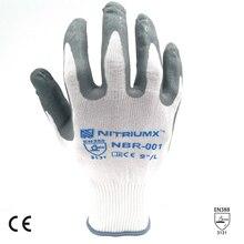 SAFETY-INXS 15 калибр нейлон трикотажные рабочие перчатки анти-Резные Перчатки безопасные устойчивые к порезам ударопрочные защитные перчатки