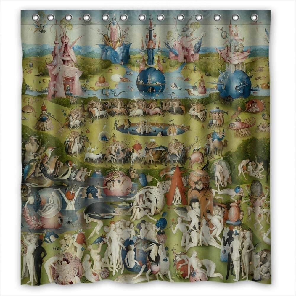 Sagatek Polyester Rideaux De Jérôme Bosch Art Peinture Pour Père Gf Parents Amant D'anniversaire. Hydrofuge