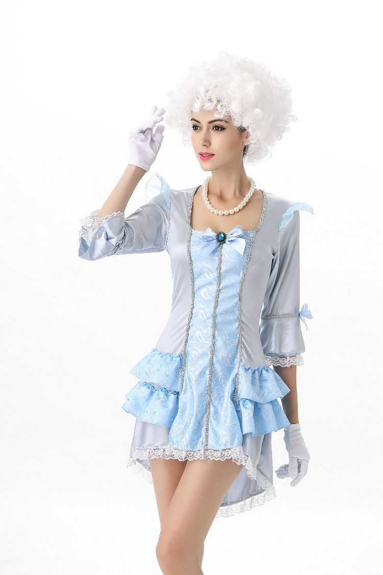 Noble European palace adults sissy costumes queen Short dress Halloween snow white play princess costumes for cosplay women