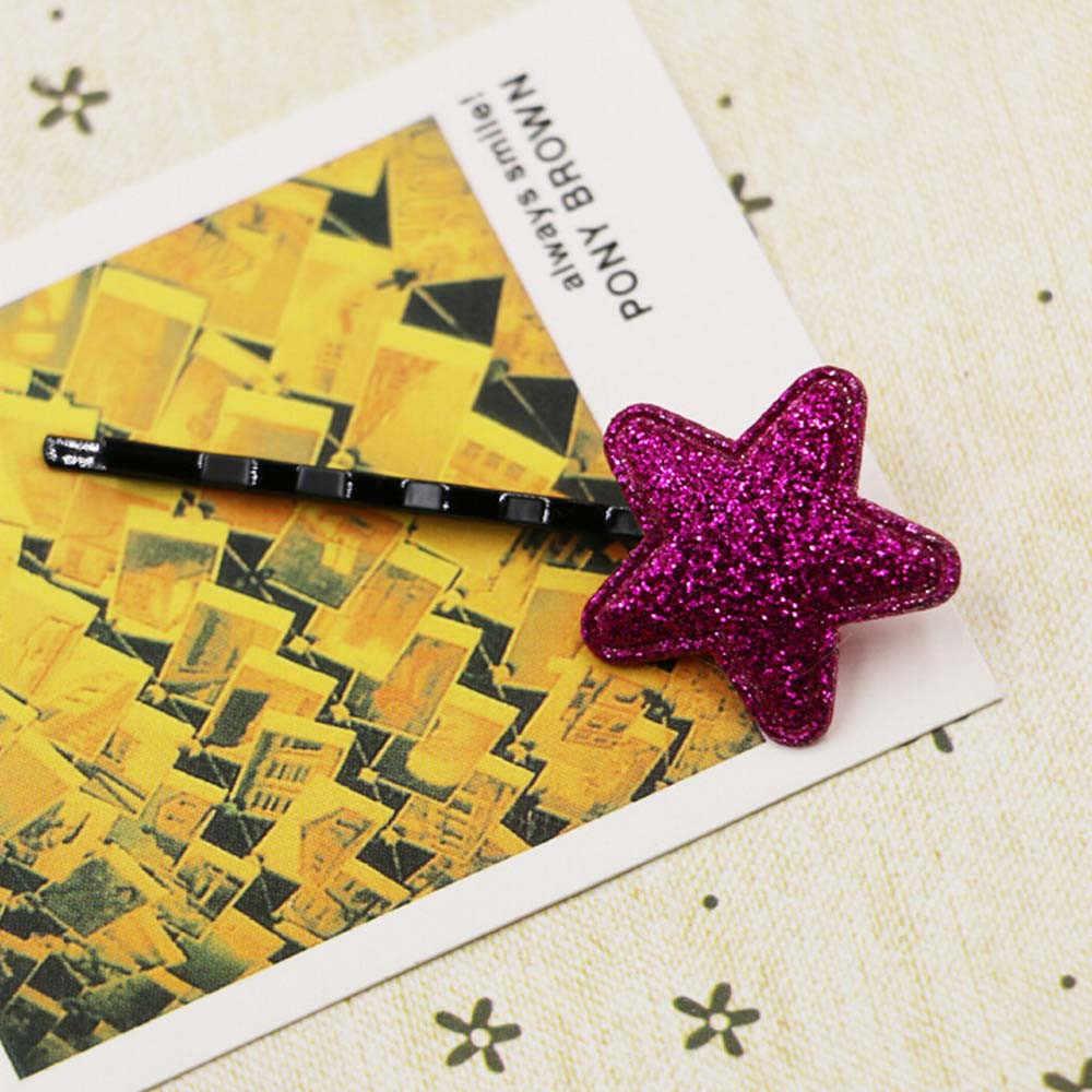 Bayi Anak-anak Gadis 2019 Rambut Pin Pin Lucu Payet Bintang Mini Rambut Klip Snap Kain Putri Bayi Haar Acessories Anak-anak pin Rambut