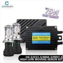S75 Fast Bright xenon lamp h4 kit xenon 75W kit  Xenon HID Ballast  H4 hb4/hid h4 bi xenon lens car headlights hid lens