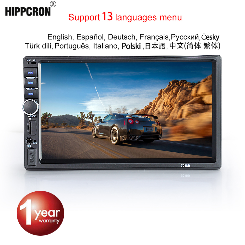 Hippcron Radio Mp5-Player Touch-Screen Bluetooth Stereo SD Auto 2-Din USB FM 12V HD 7-Car