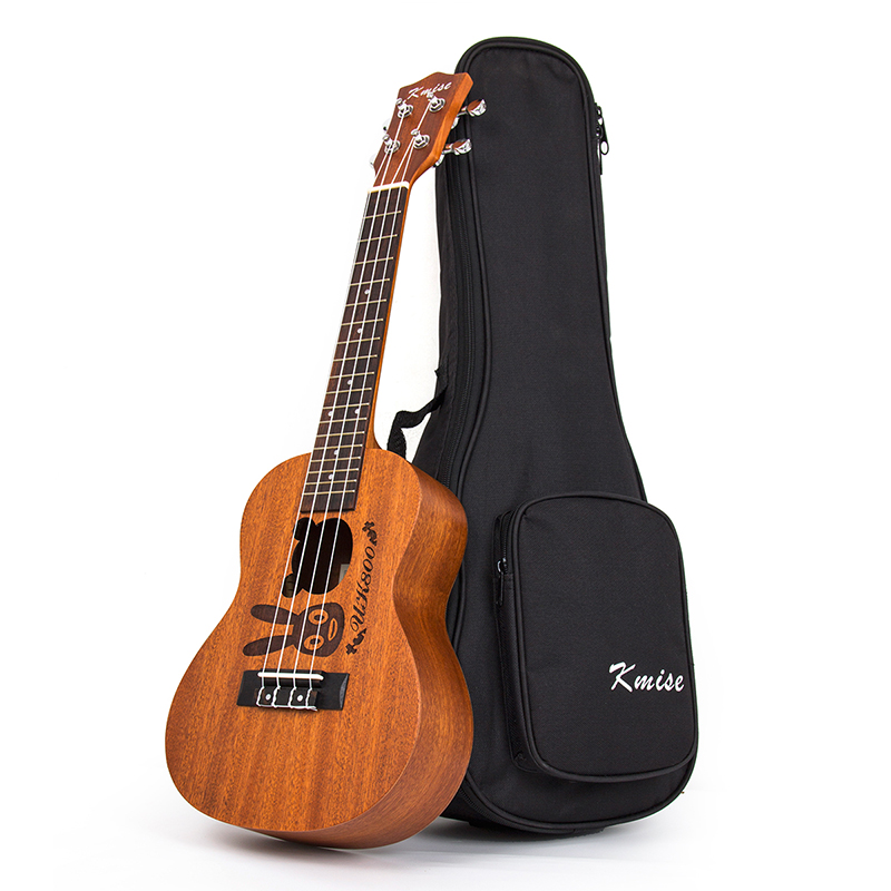 Kmise Concert Ukulele Mahogany Ukelele Uke 23 inch 18 Fret 4 String Acoustic Hawaii Guitar with Gig Bag free shipping 26 inch 18 fret tenor cutaway acoustic guitar ukulele hawaii guitarra music instrument ukelele promotion