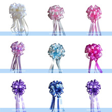 1.5meter=59inch Large Two-tone Pull Ribbon Bows For Gift Wrapping Wedding Party Birthday Car Decoration 20PCS