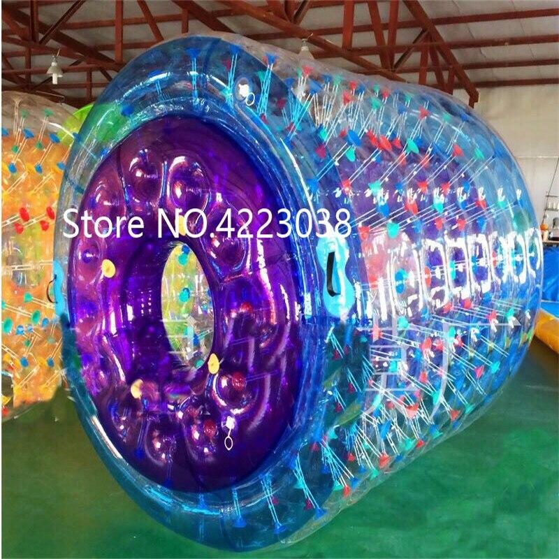 Livraison gratuite 2.4*2.2 m multicolore gonflable rouleau boule sur l'eau boule gonflable rouleau d'eau pour enfants gratuit une pompe