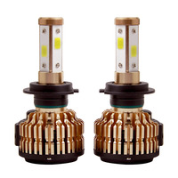 2X T4 H4 H7 H11 9005 9006 H13 Car LED Headlights Bulbs 75W 10000LM 4 Sides