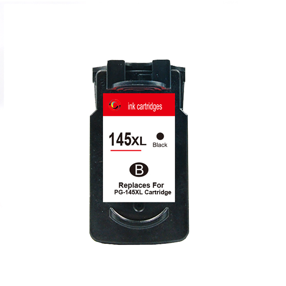 hisaint For Canon 145 PG145 145XL Ink Cartridge For Canon PIXMA MG2410 MG2510 Printer PG-145 cartridges color box packaging image