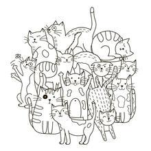 AZSG Cartoon cute little cat Clear Stamps For DIY Scrapbooking Decorative Card making Craft Fun Decoration Supplies 13x13cm