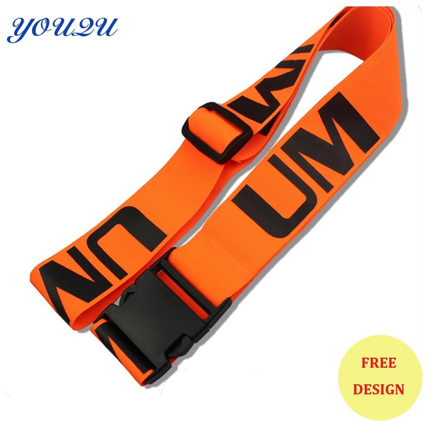 Custom Luggage Strap Luggage Belts Imprint Own Logo Sale Own Brand