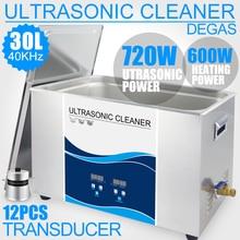 Original Digital Ultrasonic Cleaner 30L 7Gal 720 W Ultrasonic เครื่องซักผ้าถัง Lab แม่พิมพ์น้ำมันฮาร์ดแวร์ทำความสะอาด Bath