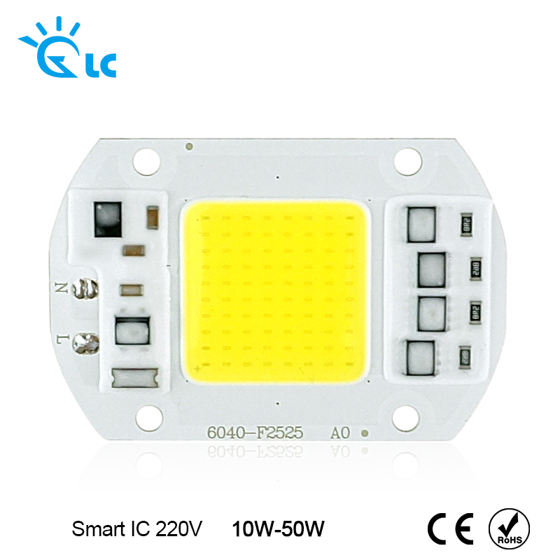 LanChuang Smart IC COB LED Chip 10W 20W 30W 50W 220V 230V Input No need Driver For DIY Cold Warm White For Spotlight Floodlight цена 2017