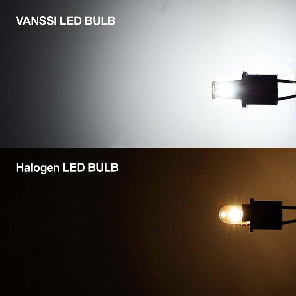 10X High Power 6000K 168 194 T10 2825 Interior//License Plate 6SMD LED Light Bulb