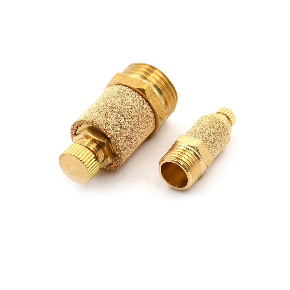 1//4 PT sintered bronze exhaust silencer with flat brass body 10 pieces