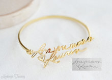 Personalized Newest Knot Bracelet Fashion Lettering Round Bangles Handwriting bangle Wedding Gift Bridesmaid Gift