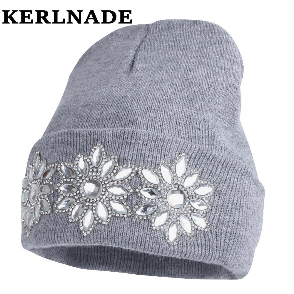winter hat for women girl 's hat knitted cotton beanies cap brand new thick female hats