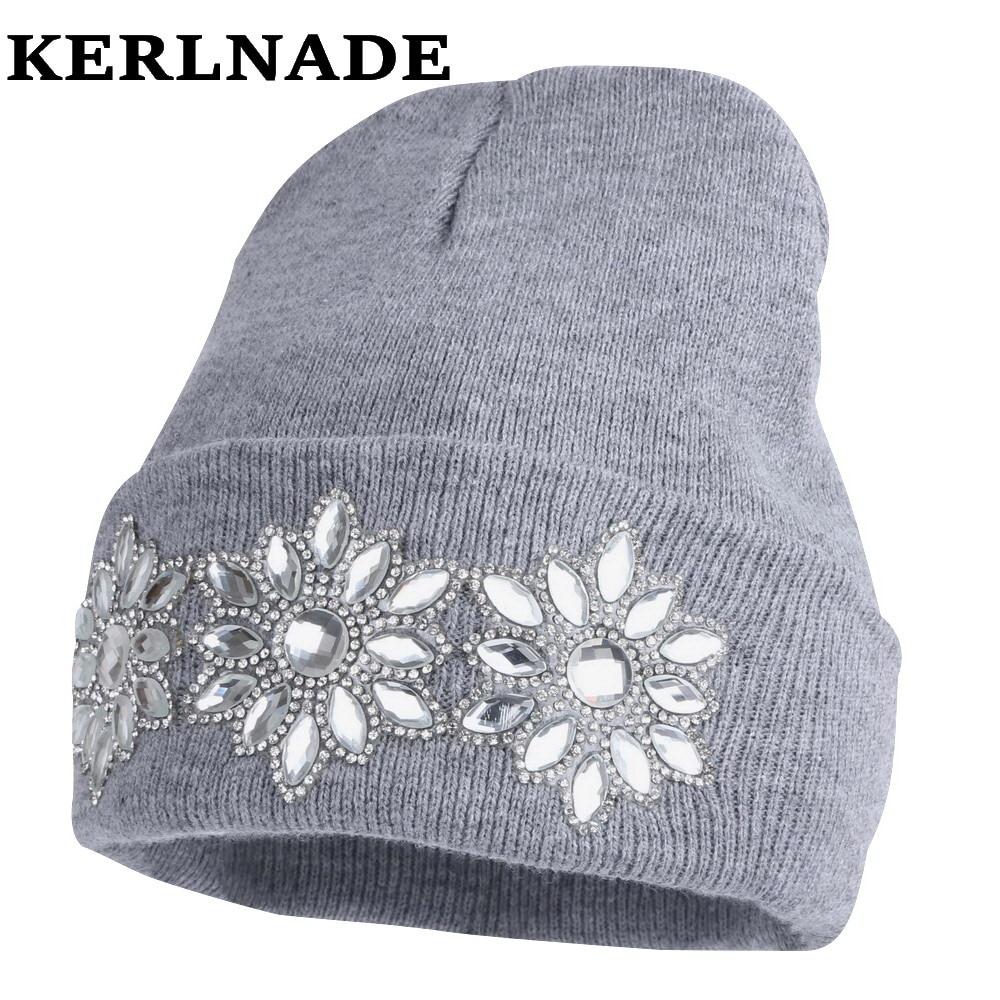vinterhatt för kvinnors tjejhatt stickad bomullsmössa mössa helt nya tjocka hattar