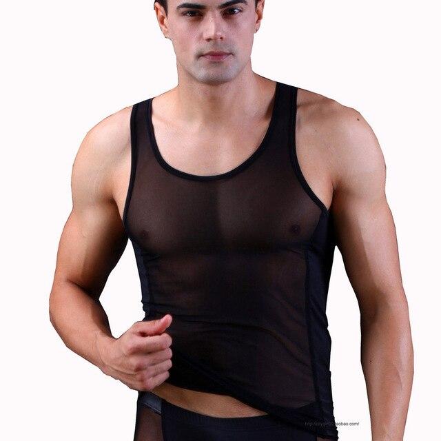 80c5c66e62954 Hot AND Sexy Men s Vest Mesh Smooth Thermal underwear Tank Top Men Top Vest  Men s Tank