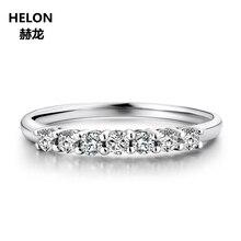 Moissanites Ring Solid 14K White Gold Round VVS/ F-G Lab Grown Moissanites Diamond Engagement Ring Women Wedding Band Trendy