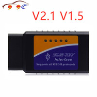 Ferramenta V1.5 Obd2 ELM327 OBD2 OBDII Interface Bluetooth Auto Scan Tool ELM 327 V2.1 CAN-BUS Ferramenta de Scanner de Diagnóstico