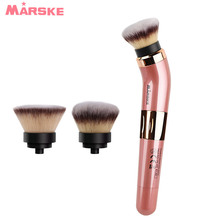 New Electric Makeup Brush With 360 Degree Rotating USB Rechargeable Automatic Smart Cosmetics Blushes Kit 2 Make-up Head