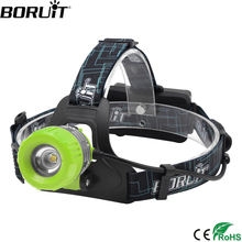BORUiT B11 High Power XML T6 LED Headlamp 3Modes Rechargeable Headlight Zoomable Adjustable Head Lamp Torch Lantern hiking light boruit 1000lm xml l2 led headlamp flashlight zoomable headlight portable lantern camping hunting head torch light