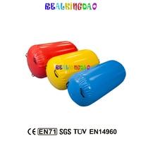 Бесплатная доставка 90 см diamete Надувные Гимнастика воздуха мат/, air тренажеры надувной воздушный трек/ролик для одного ПК